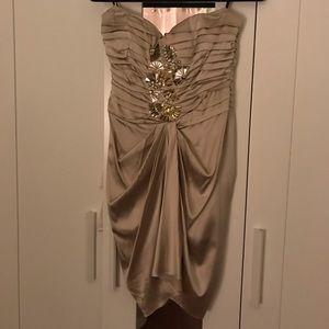 Bebe strapless satin dress